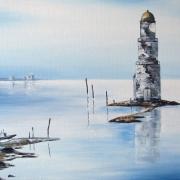 Картина маслом - Седой маяк