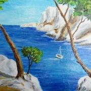 Картина маслом Белый берег